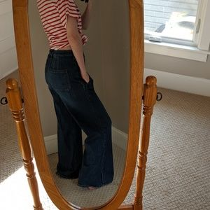 Pilcro and the letterpress wide high waisted jeans
